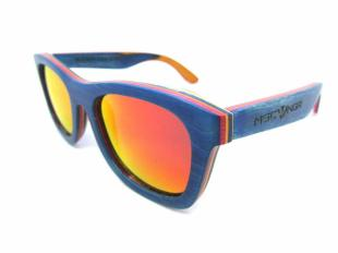 Gafas de madera - Skate Blue